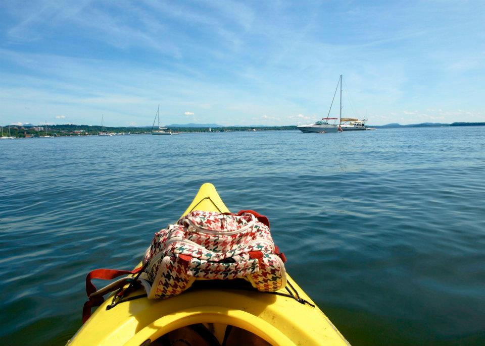 Person kayaking the San Juan Islands