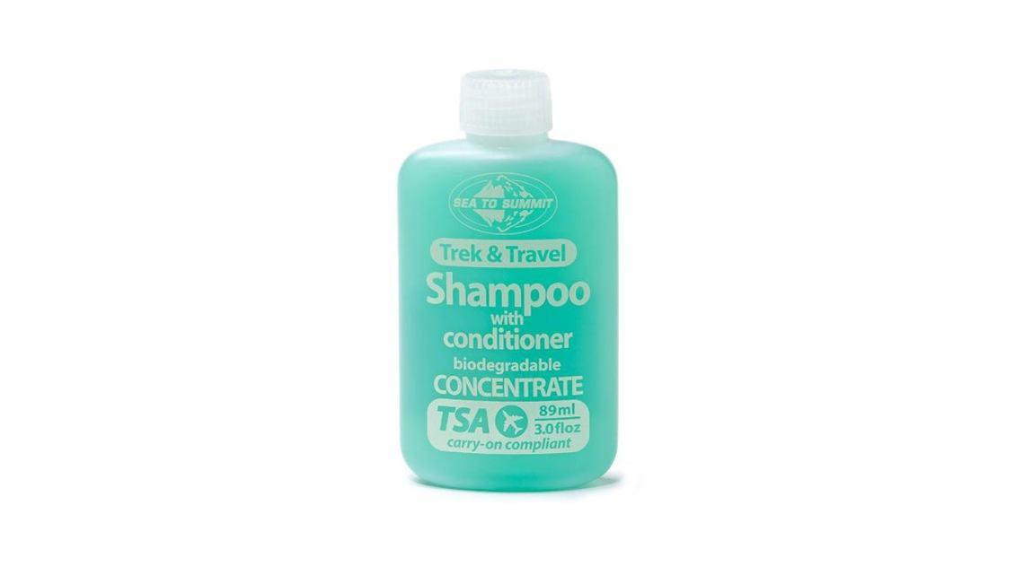 Small bottle of sea to summit pocket shampoo