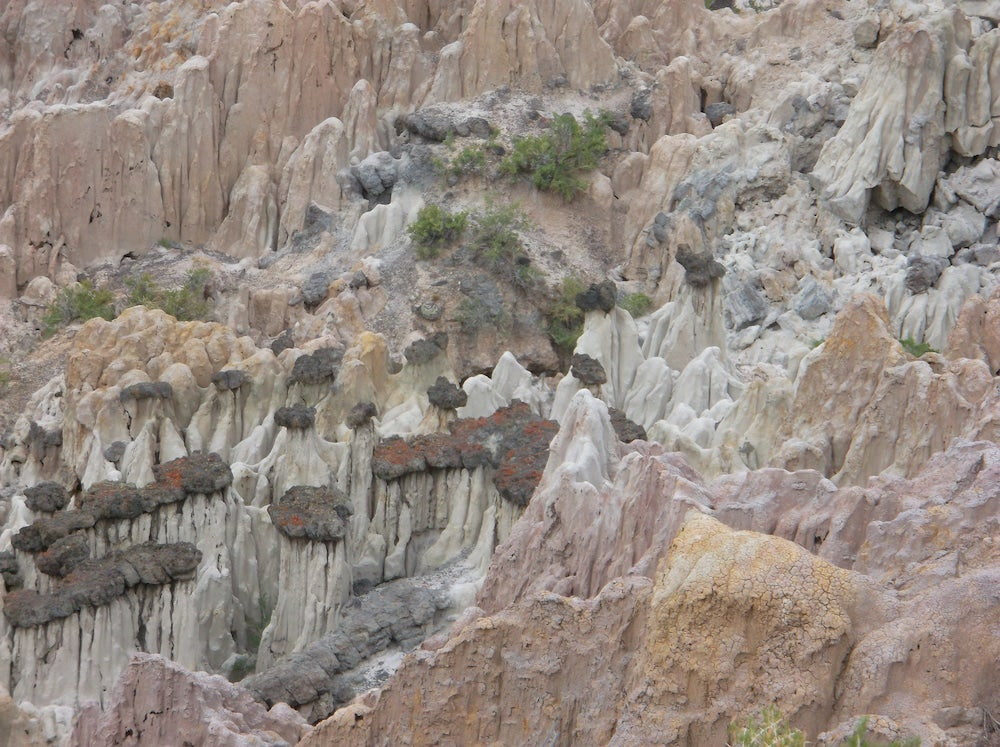 Rockscape with colorful rocks and spires