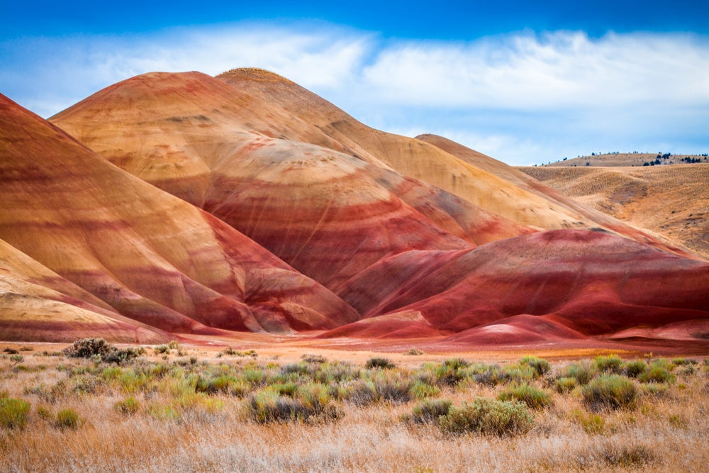 Panoramic view of the painted hills in Oregon