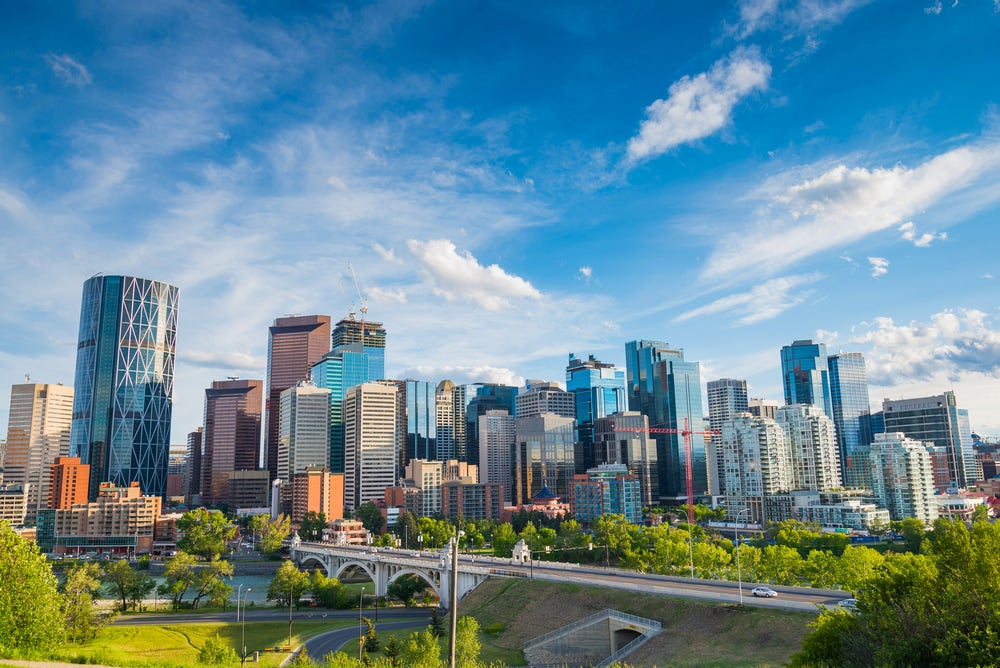 Panoramic cityscape of Calgary, Alberta