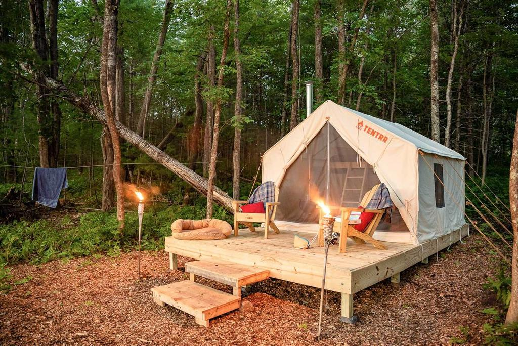 Maine State Parks >> Tentrr Establishes Glamping Tents In Maine State Parks