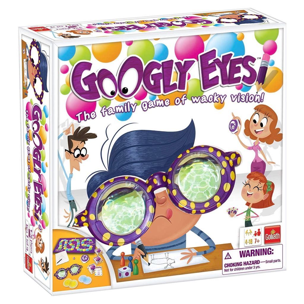a box cover of the board game googly eyes