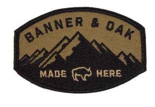 banner and oak logo patch