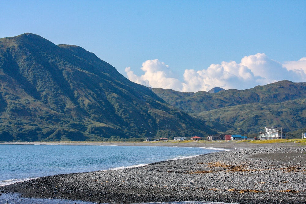A shallow bay on kodiak island in alaska