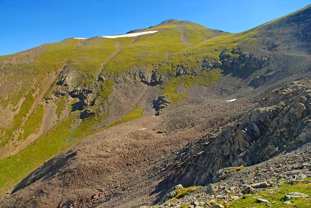 the view near handies peak near colorado's san juan mountains