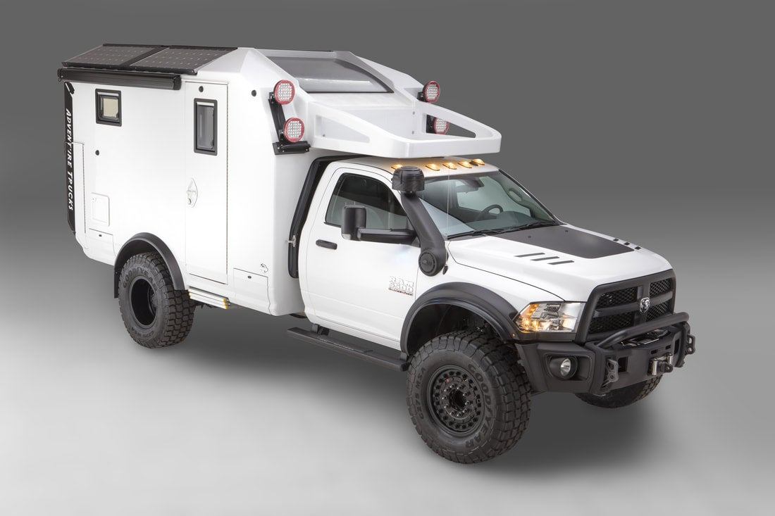 The GXVC Adventure Truck in white.