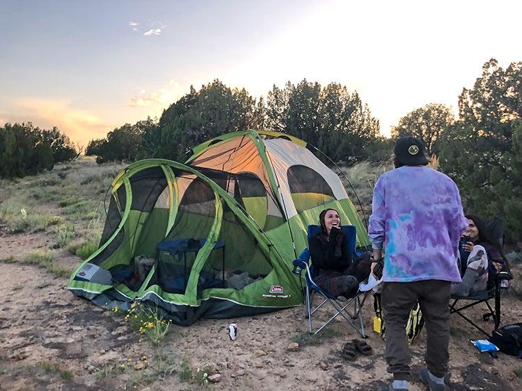 camping at picketwire canyonlands colorado