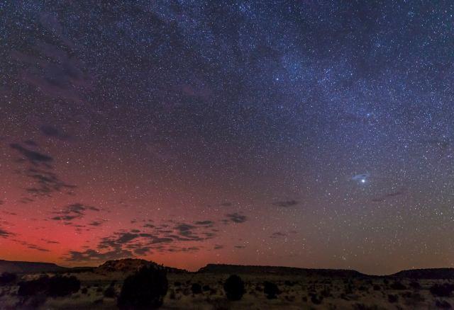 night sky at black mesa state park