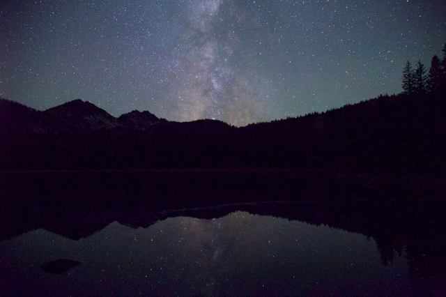 night sky over anthony lakes in eastern oregon