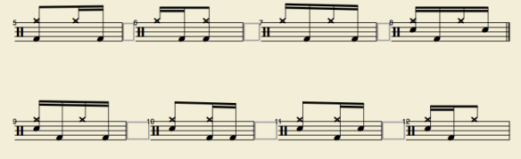 éléments rythmique de base