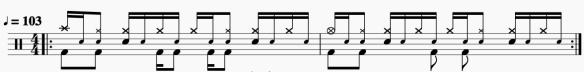 Un groove pour travailler sa main gauche à la batterie