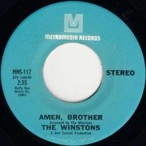 Le disque des Winstons avec le titre Amen Brother