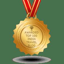Awarded for India Travel Blog