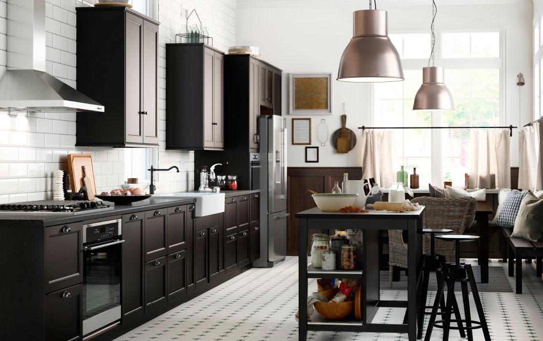 Cuisine Ikea Laxarby Noir Le Blog Des Cuisines