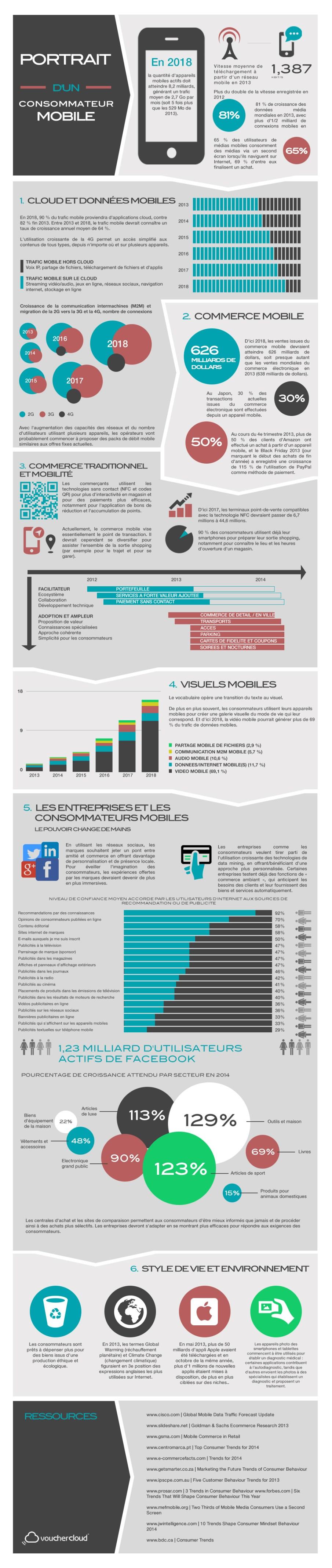 infographie du consommateur mobile