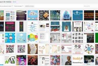 Bibliothèque des médias WordPress JooUnited