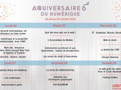 programme aquiversaire Aquinum association des pros du numériques en Aquitaine