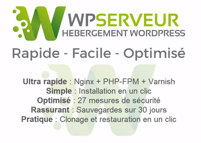 Wp Serveur Hebergement Web