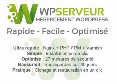 Wp Serveur Hebergement wordpress Web