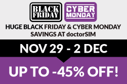 Incredible Black Friday deals at doctorSIM – 45% off everything!
