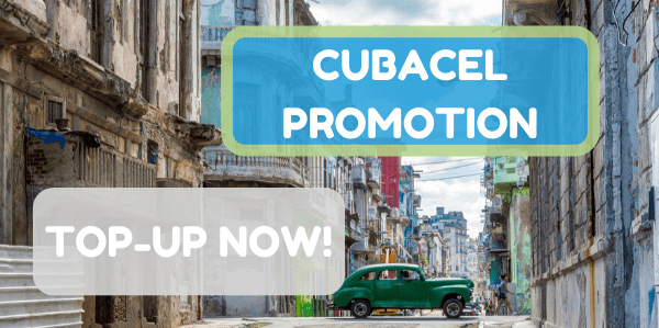 Send money to Cubacel with special promotions this week