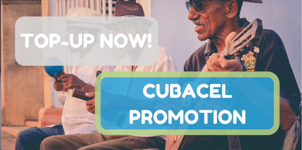 Cubacel top-ups! 40 CUC free for every 20 CUC
