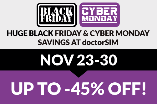 Black Friday at doctorSIM with discounts for ALL services