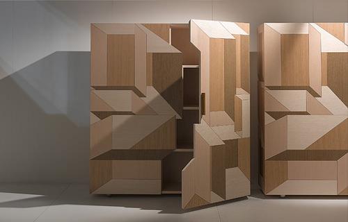 Marqueterie Moderne Bahut Inlay Par Front Pour Porro