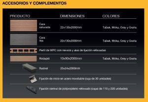 complementos oficiales madertech