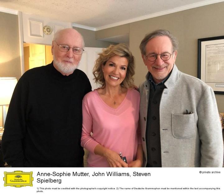 John Williams Anne-Sophie Mutter und Steven Spielberg