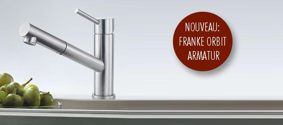Action FRANKE Orbit : une robinetterie intemporelle au design élégant