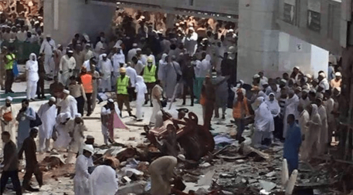 Crane Crash in Mecca