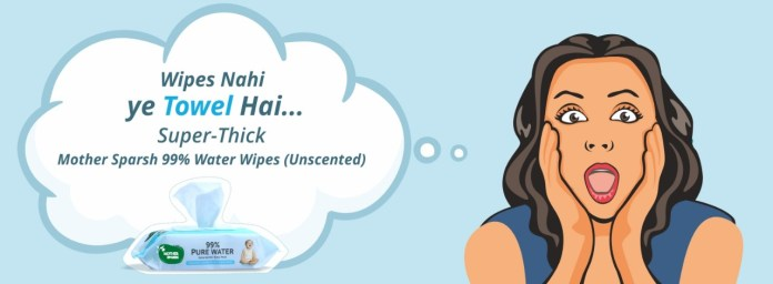Mother Sparsh's Water base wipes