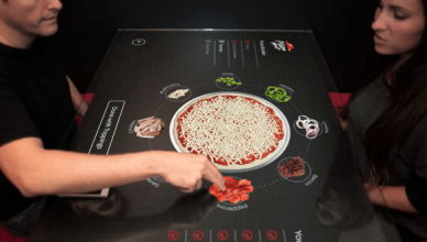 Pizza Hut et sa table tactile un concept innovant