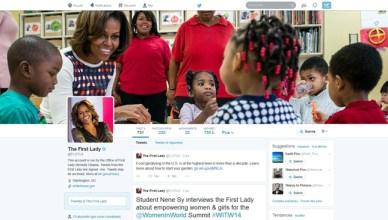 La nouvelle interface Twitter (Michelle Obama)