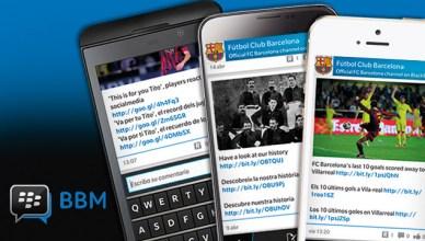 Le FC Barcelone lance son BBM Channel
