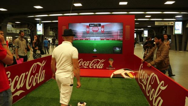 Pas de ballon, pas de cages, et pourtant il s'agit bien d'un penalty.