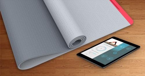 tapis connecté yoga smartmat