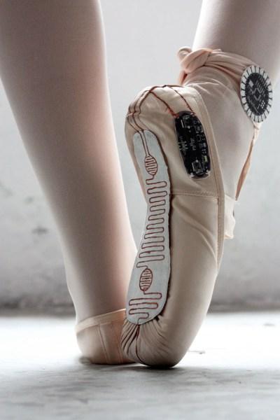 chaussons dance connectés