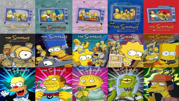 les DVD des simpsons