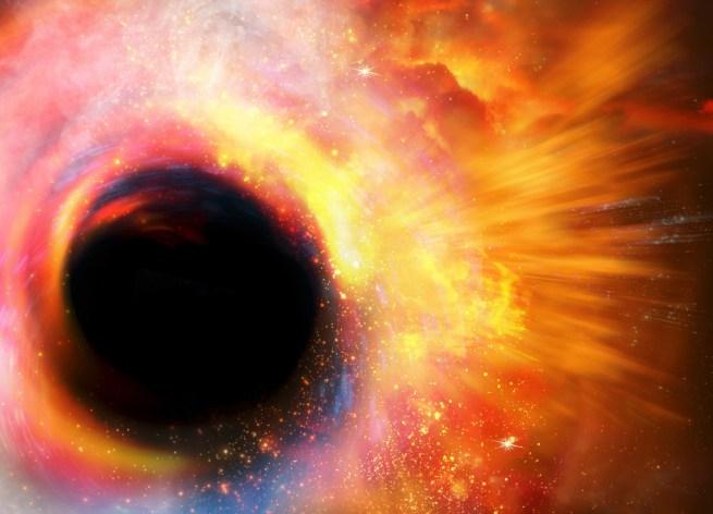 Température du trou noir est de 10 milliards de degrés