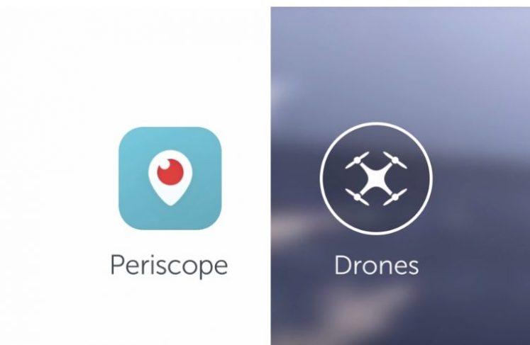 Periscope via des drones