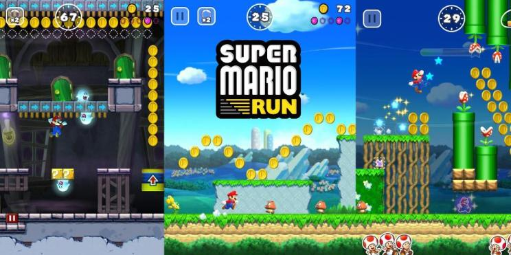 Super Mario Run, un jeu de type speedrun