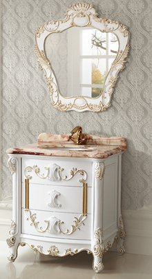ornate antique bathroom vanities for even the smallest bathroom