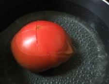 新玉トマト 調理③