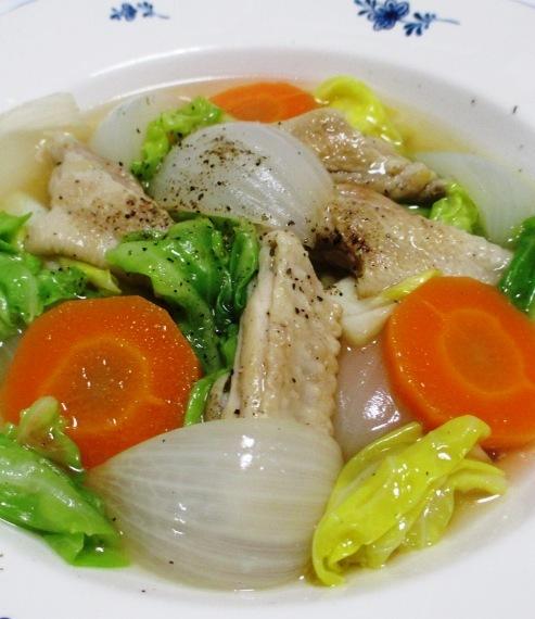 手羽中と春野菜のスープ煮 拡大