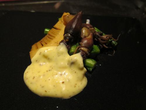 ホタルイカと筍と菜の花