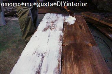 ベンチ塗装 (3)