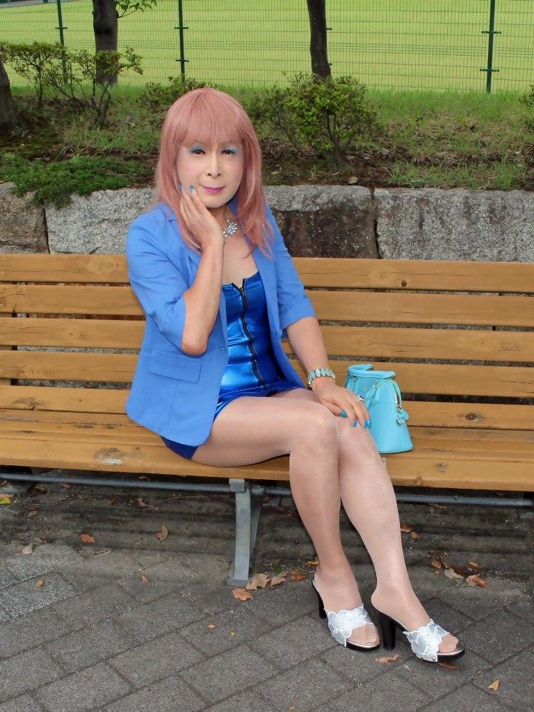 青色ホディコンミニワンピB(1)